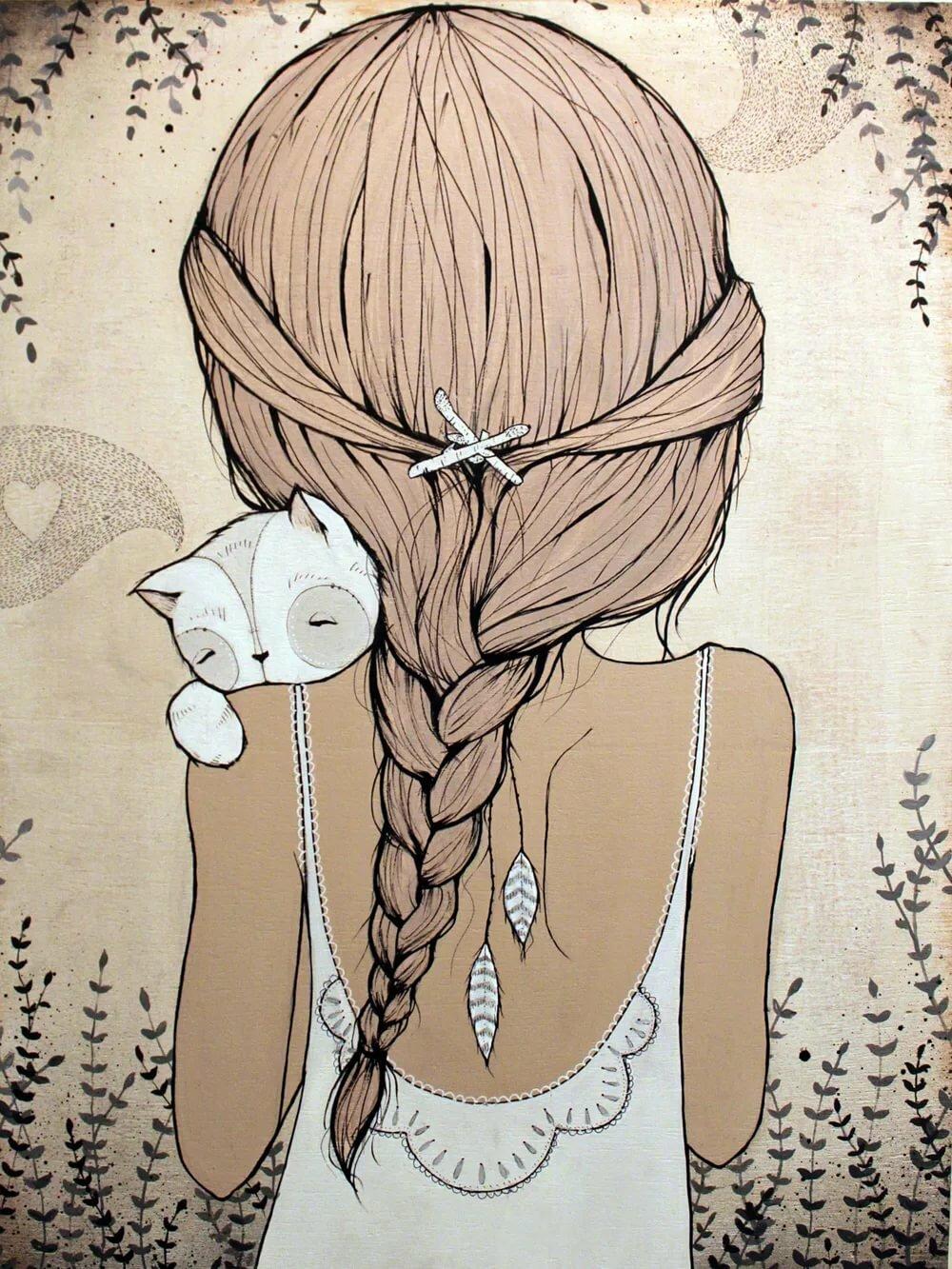 Рисунок, прикольные милые рисунки для срисовки девушек