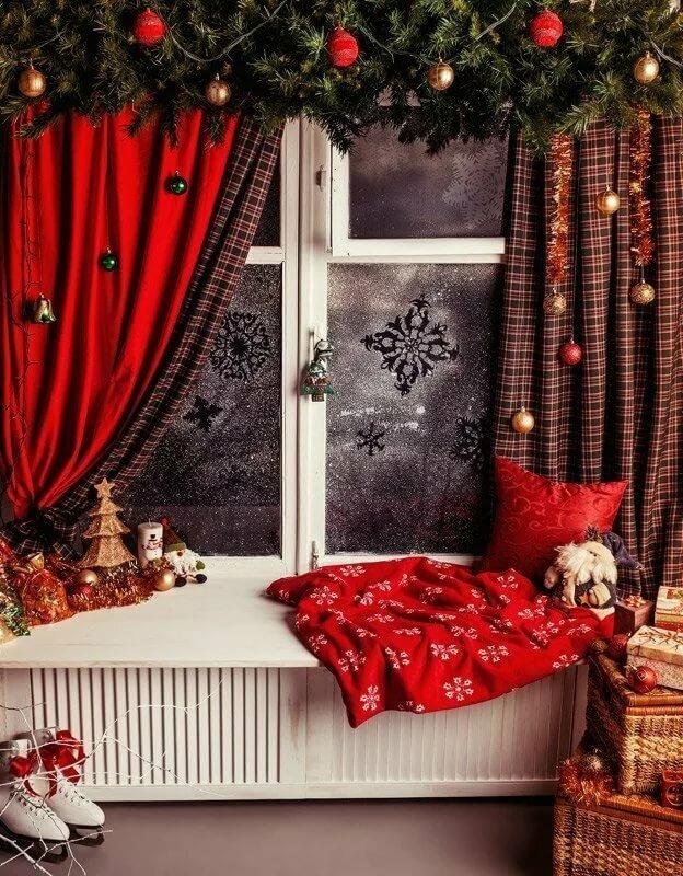 Как украсить фон для новогодней фотосессии