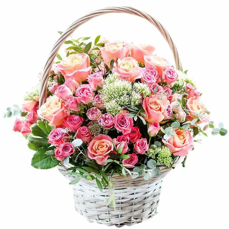 серова красивые цветы в корзинках открытки словам