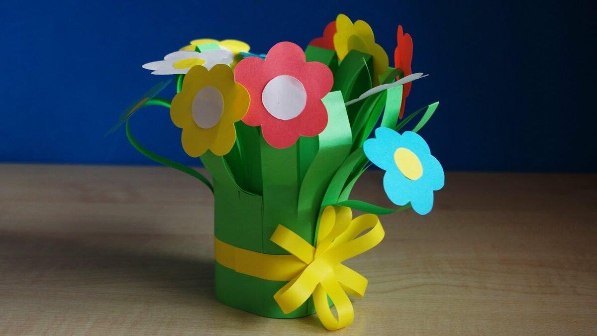 поделка букет цветов своими руками долговечность