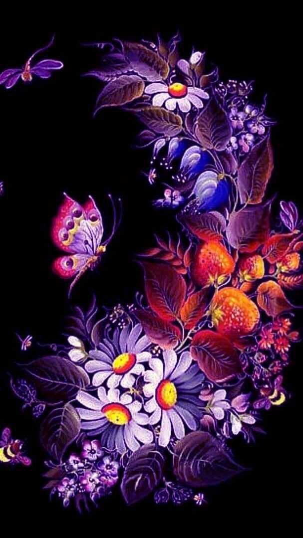 Картинки анимация цветы в телефоне, лет
