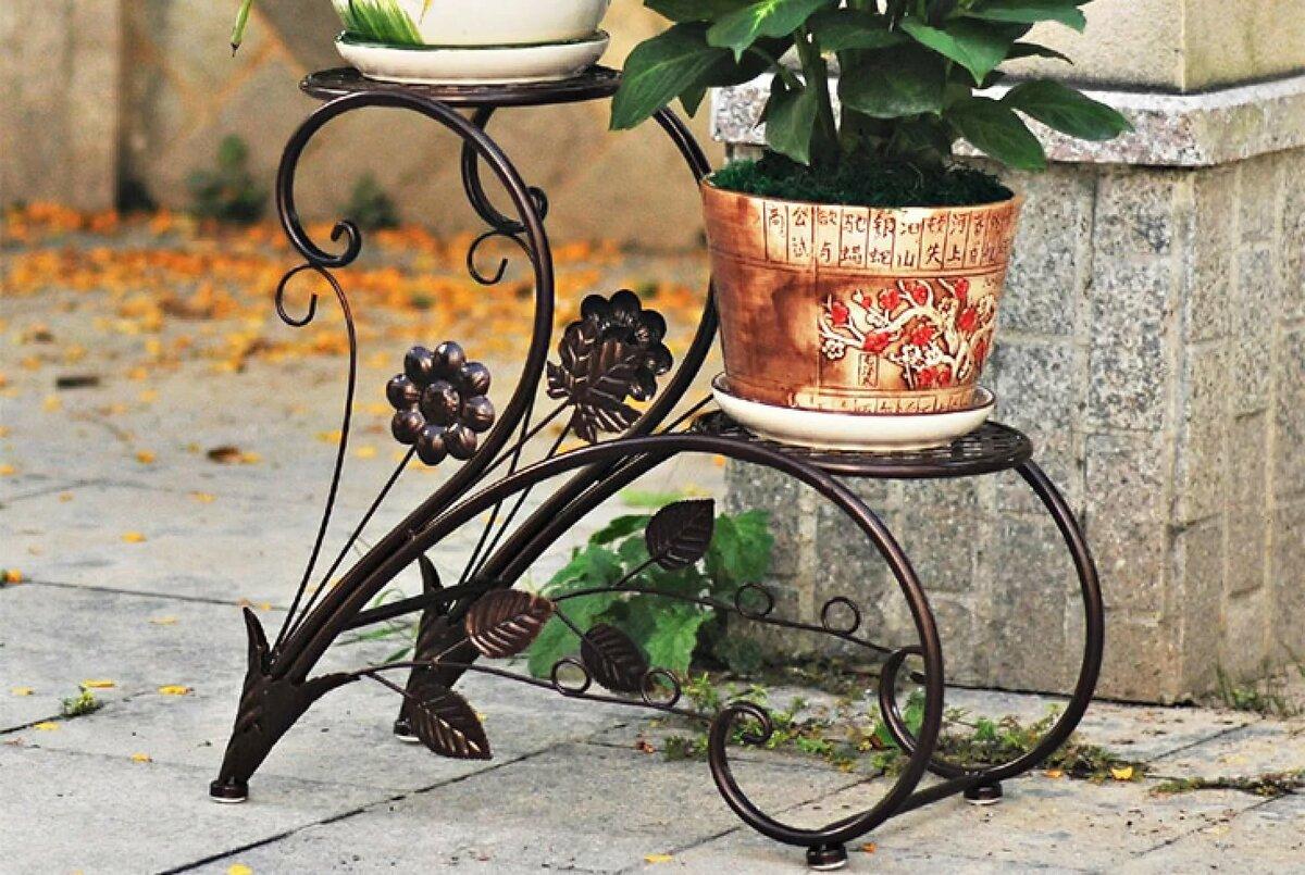 кованые садовые цветочницы фото ваша внучка будет