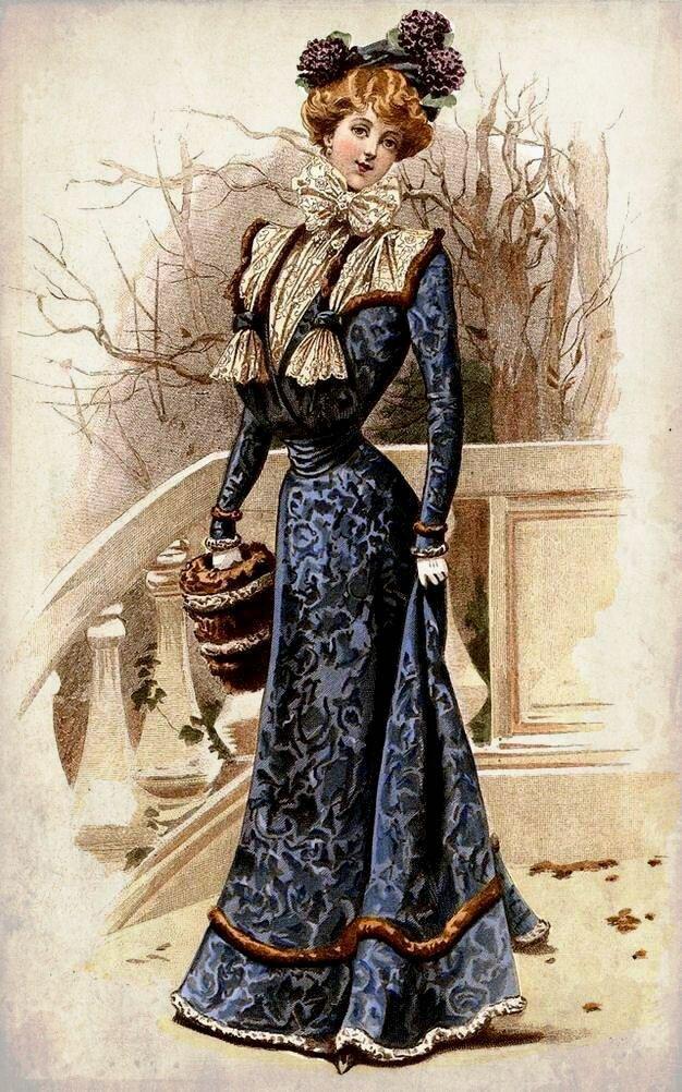 Днем рождения, платье старинные открытки
