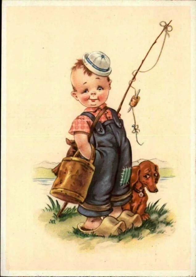 Старинные открытки для малышей