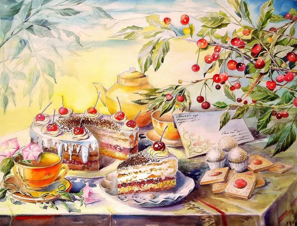 Картины открытки с днем рождения