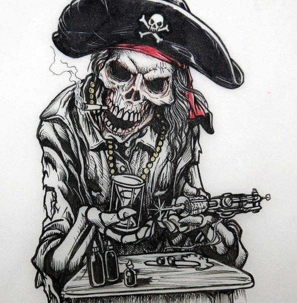 Татуировки пираты картинки
