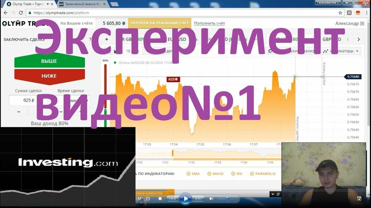 Эксперимент с сайтом  Investingcom  Видео  в HD смотреть БЕСПЛАТНО
