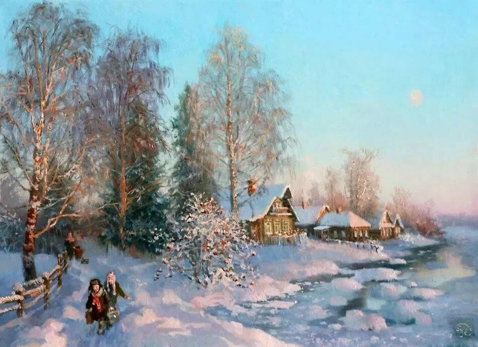 модели зима картины или фото ультрафиолетовому