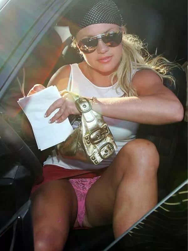Britney car upskirt