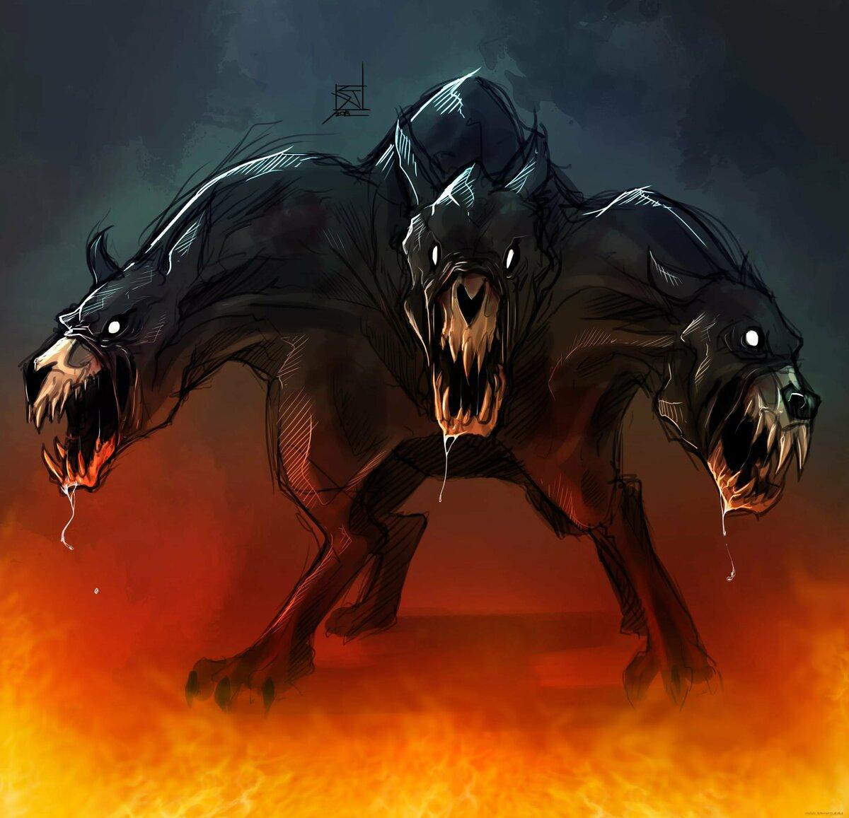 Картинка адский пес