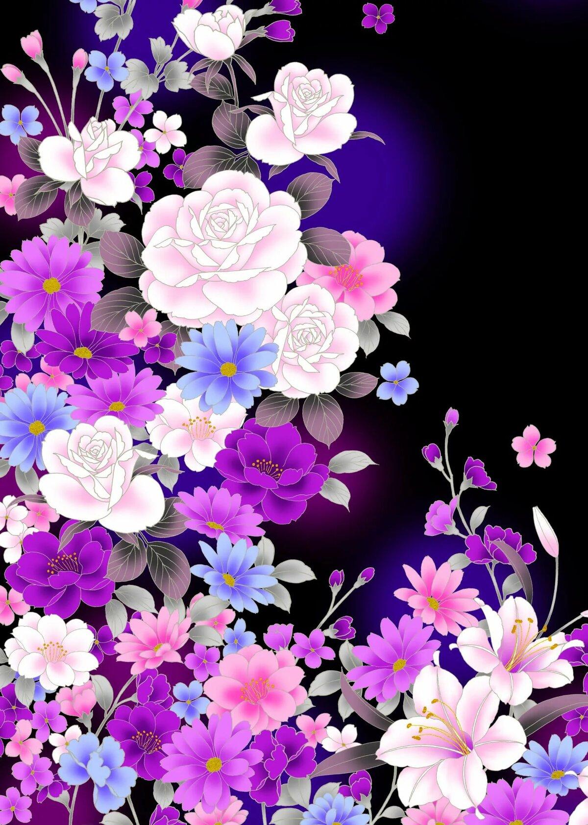 Картинки с цветами на весь экран телефона