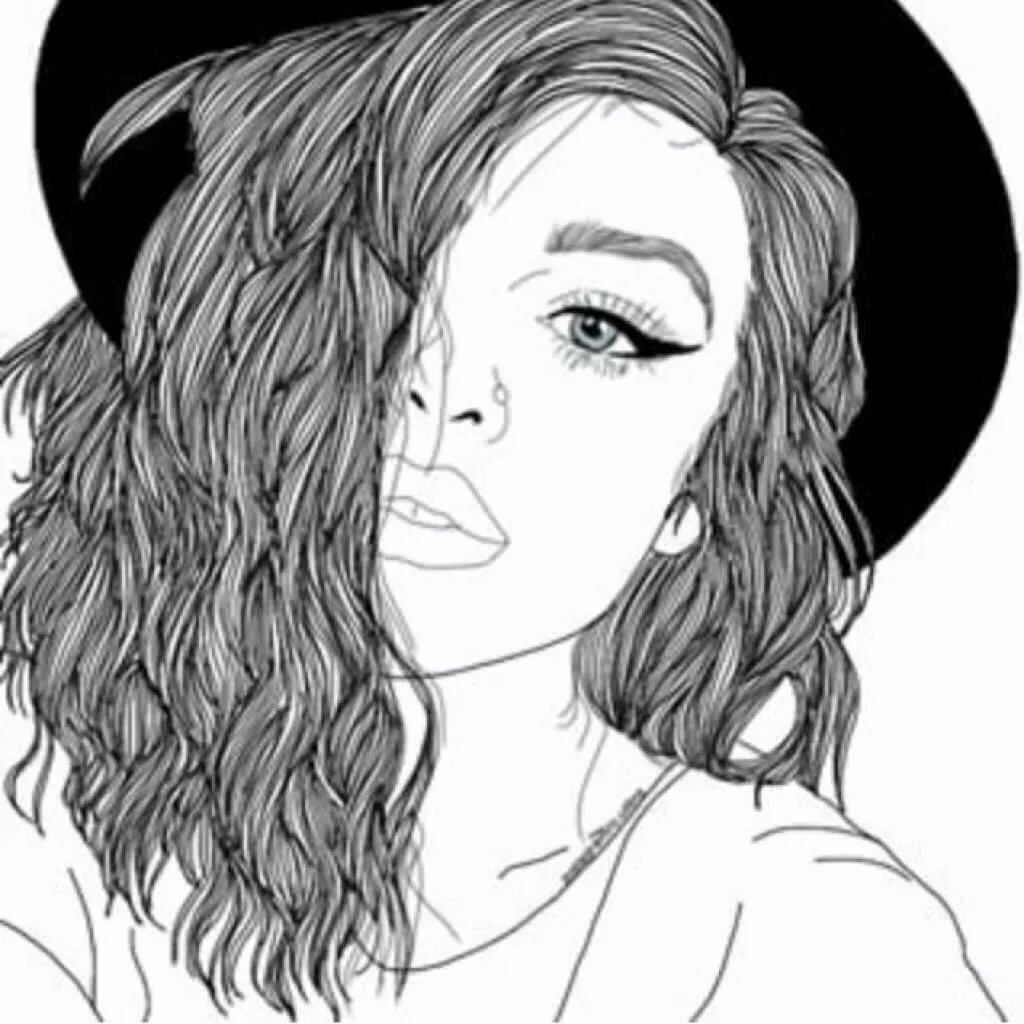 картинки рисовать черно белые это