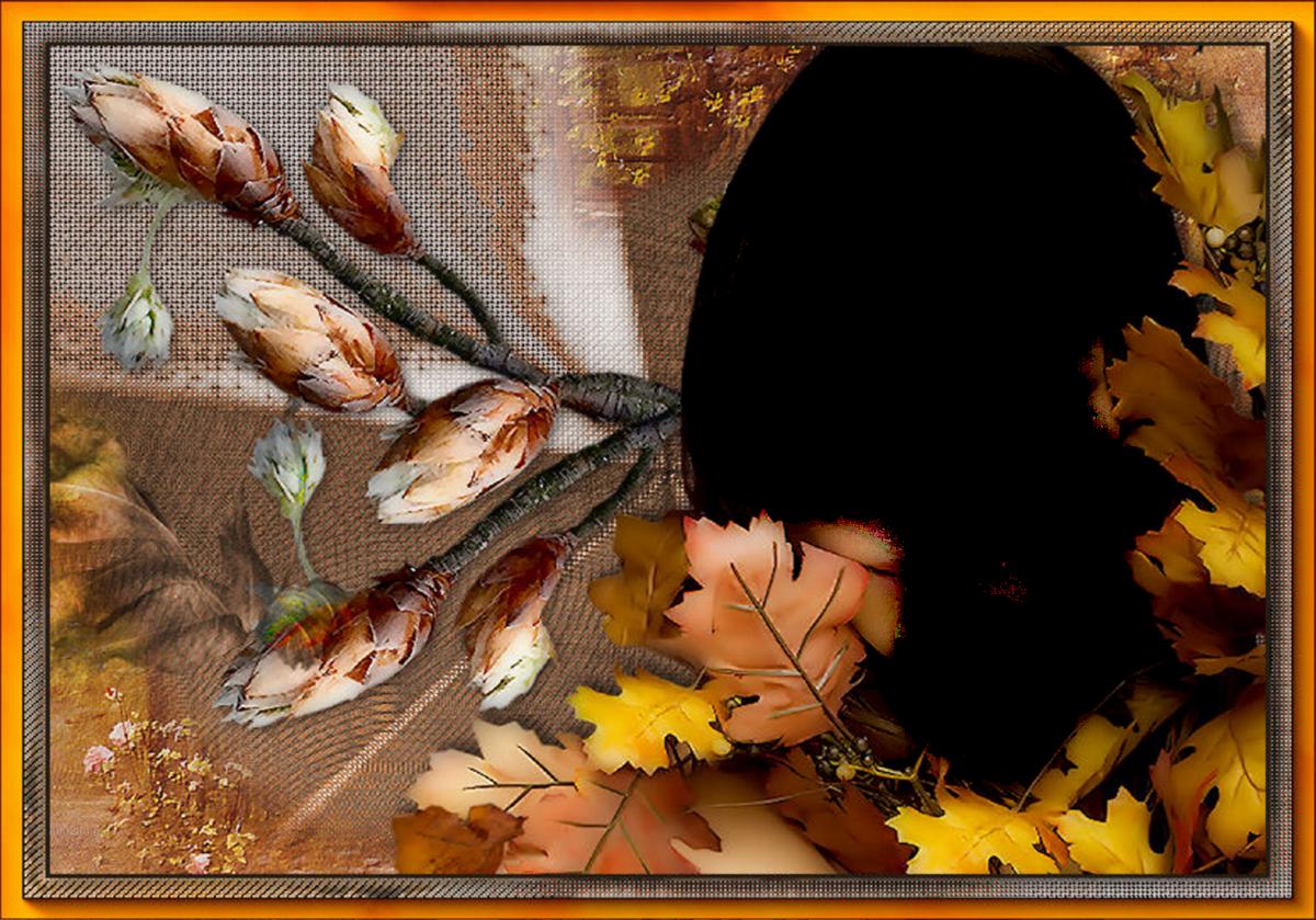 такие элементы картинка рамка поздняя осень делится