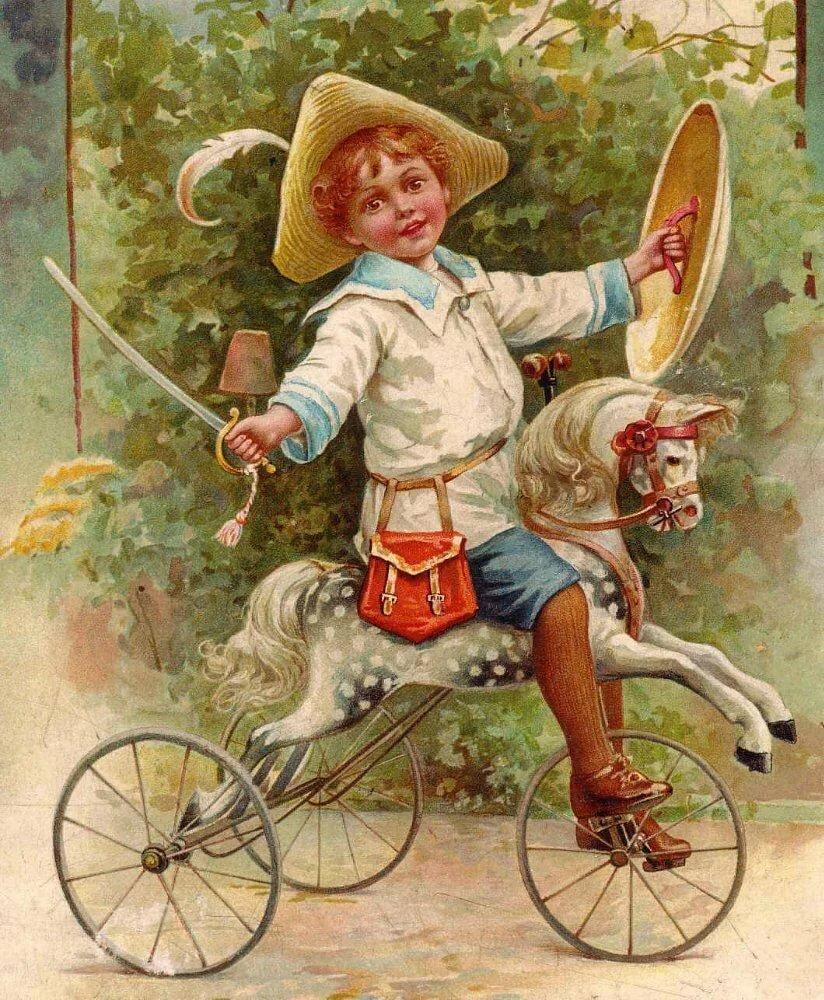 Почтовые, винтажные старинные открытки почтальон