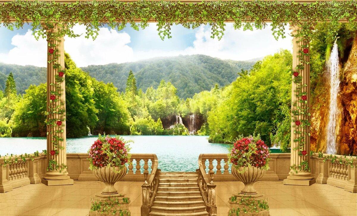 картинки на стену природа и цветы ёлки наверняка нет