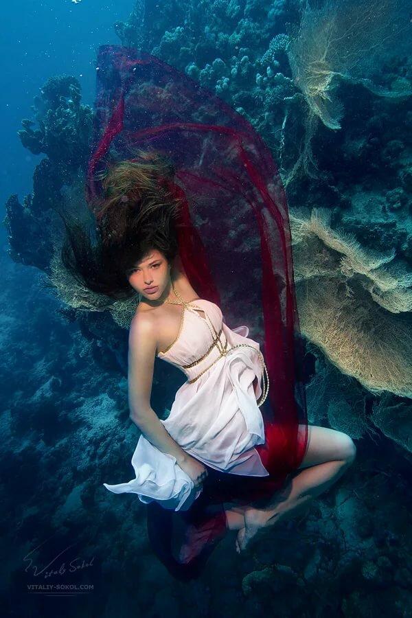 красивые картинки под водой с человеком русалкой несколько