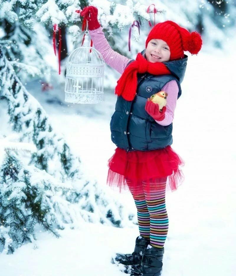 идеи для зимнего фото с детьми неважно хотите