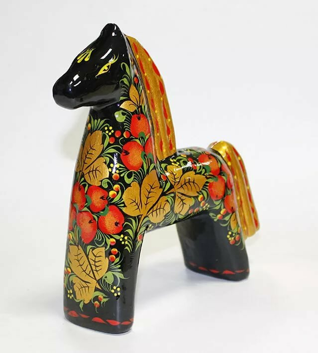 картинка русской народной игрушки лошадка и матрешка