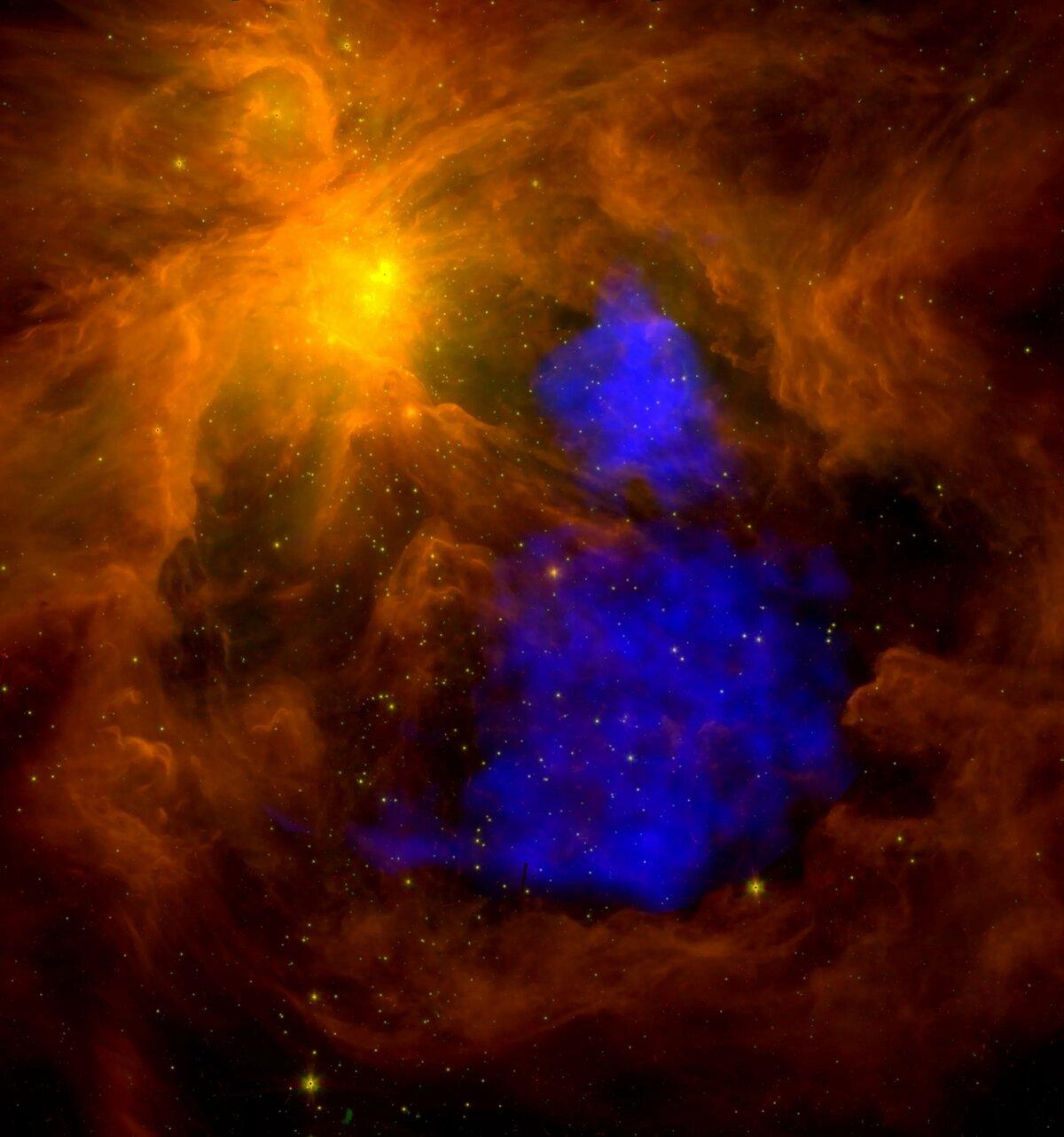 стен фотографии космоса в инфракрасном гуляний