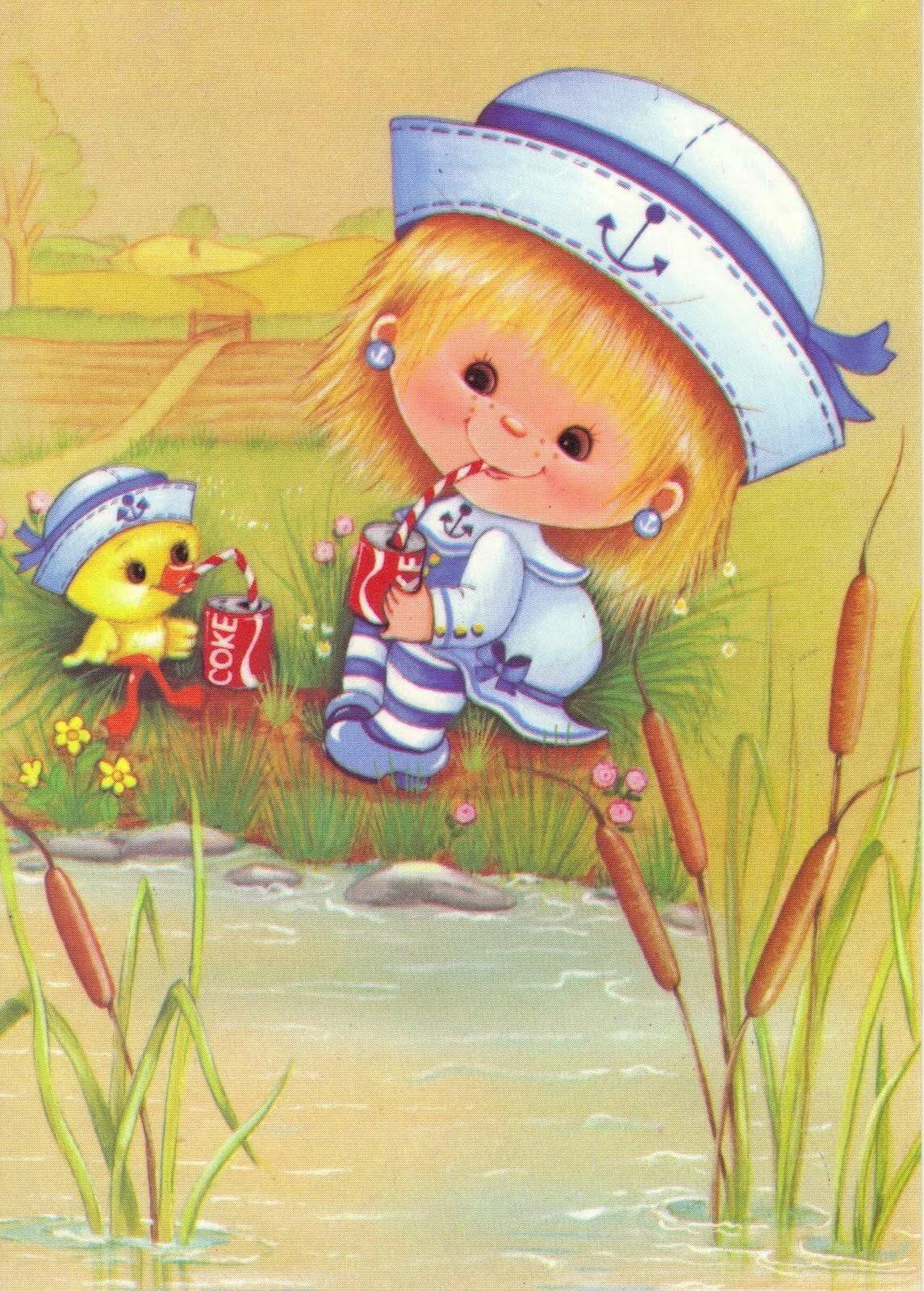 Нарисовать, открытки для детей детская