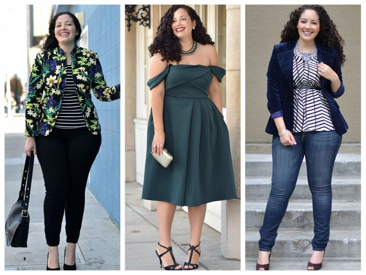 Подборка одежды для толстых девушек