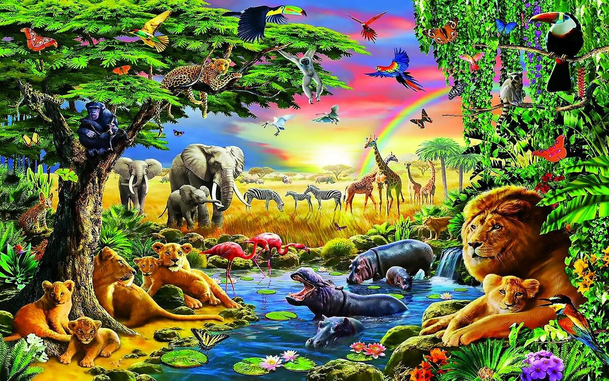 Животный мир картинки, скрапбукинг