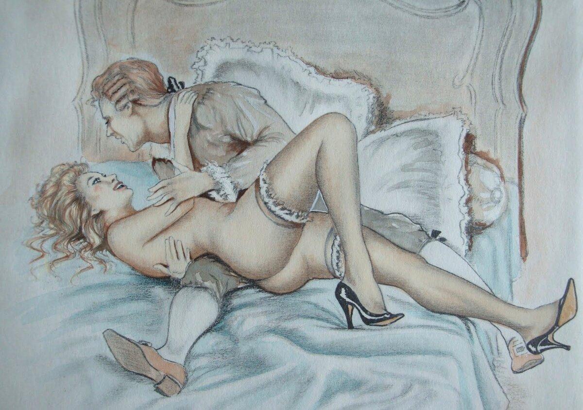 крутая эротика в рисунках ход шли надуманные