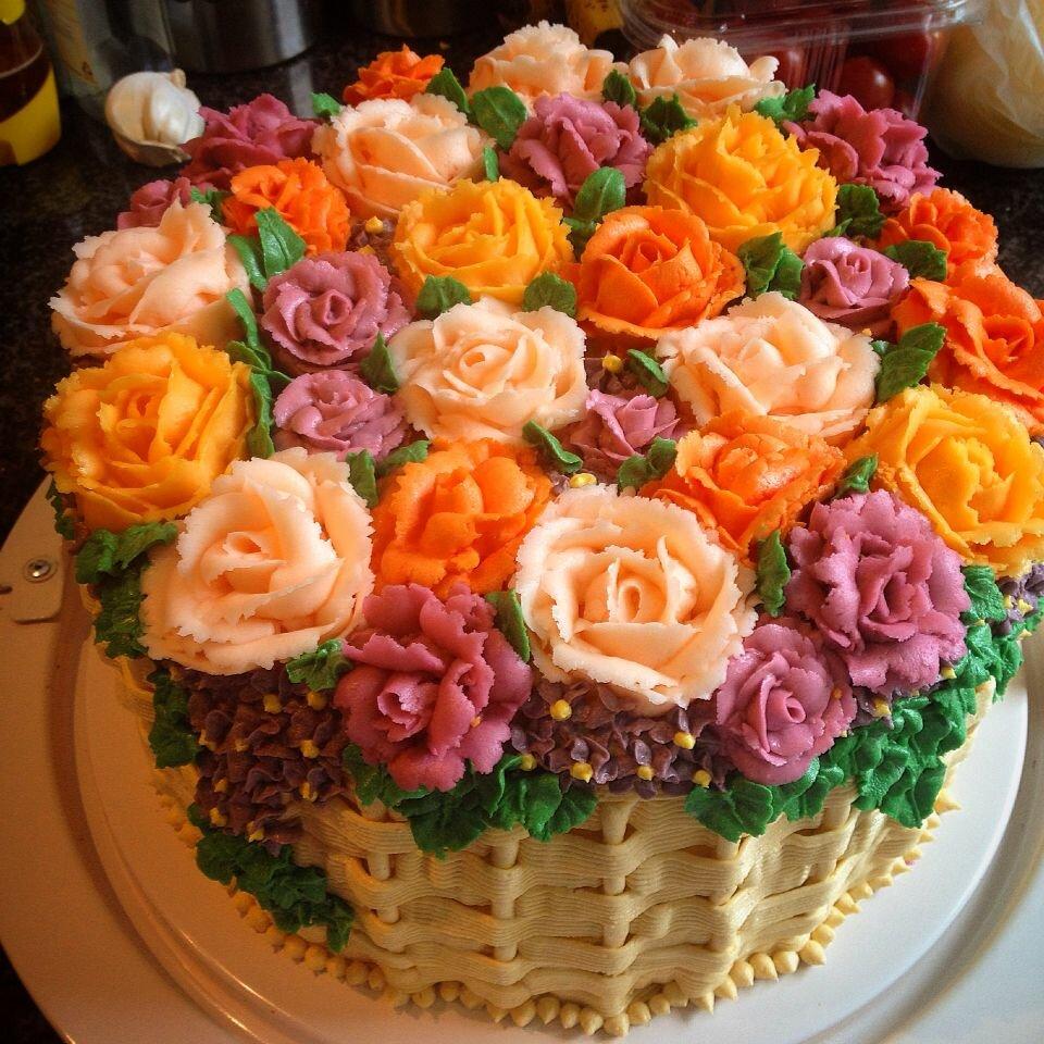 торты масляные на день рождения фото для украшения