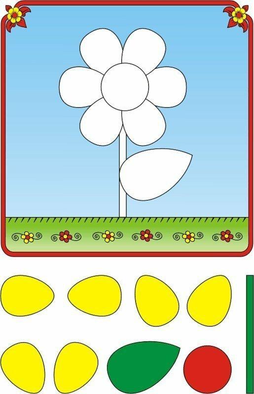 Картинки аппликации для детей 3 лет, день матери