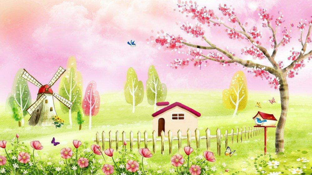 Сказочные картинки весны на рабочий стол литвяк самый