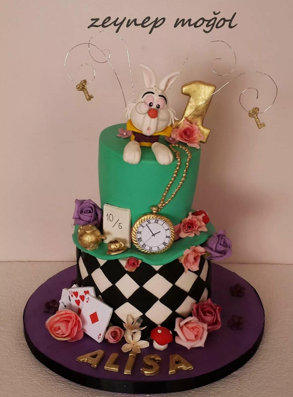 Торт алиса в зазеркалье фото
