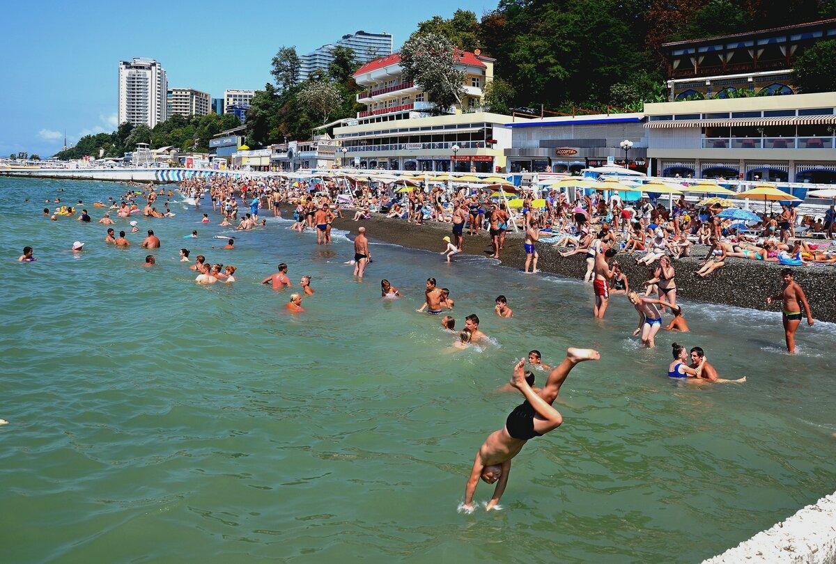 фото с сочинских пляжей