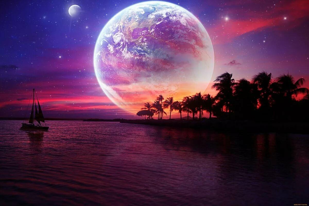 Днем учителя, картинки ночи спокойной природа