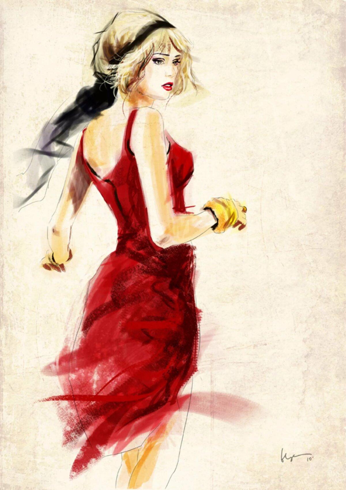 Картинки цветной леди