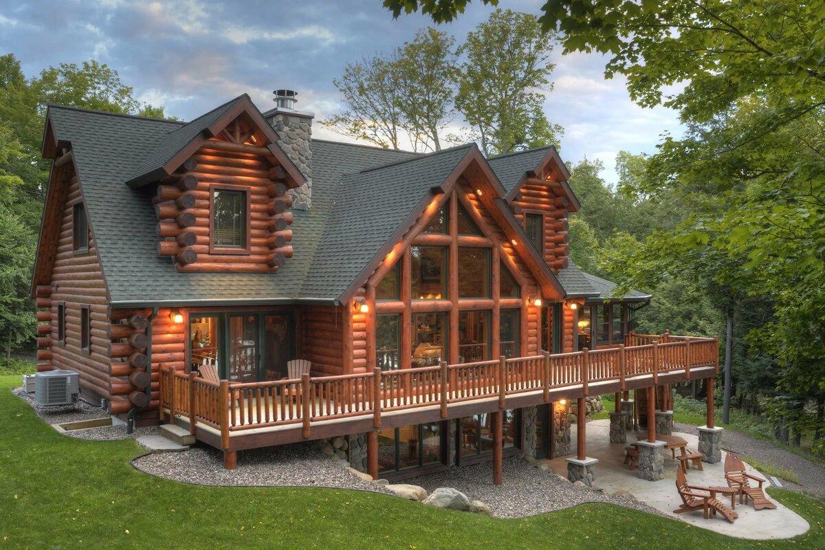Дом из дерева картинки