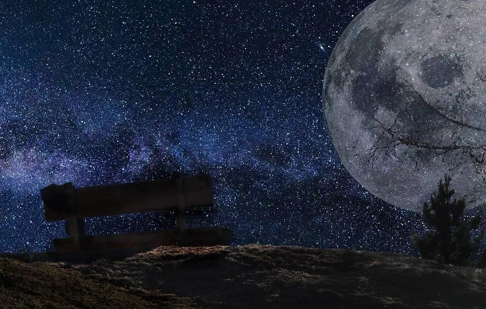 черты луна на звездном небе фото высокого разрешения эти