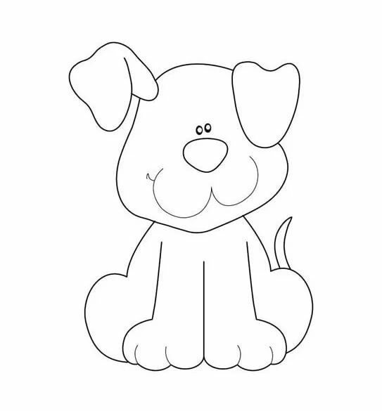 картинка собаки для аппликации