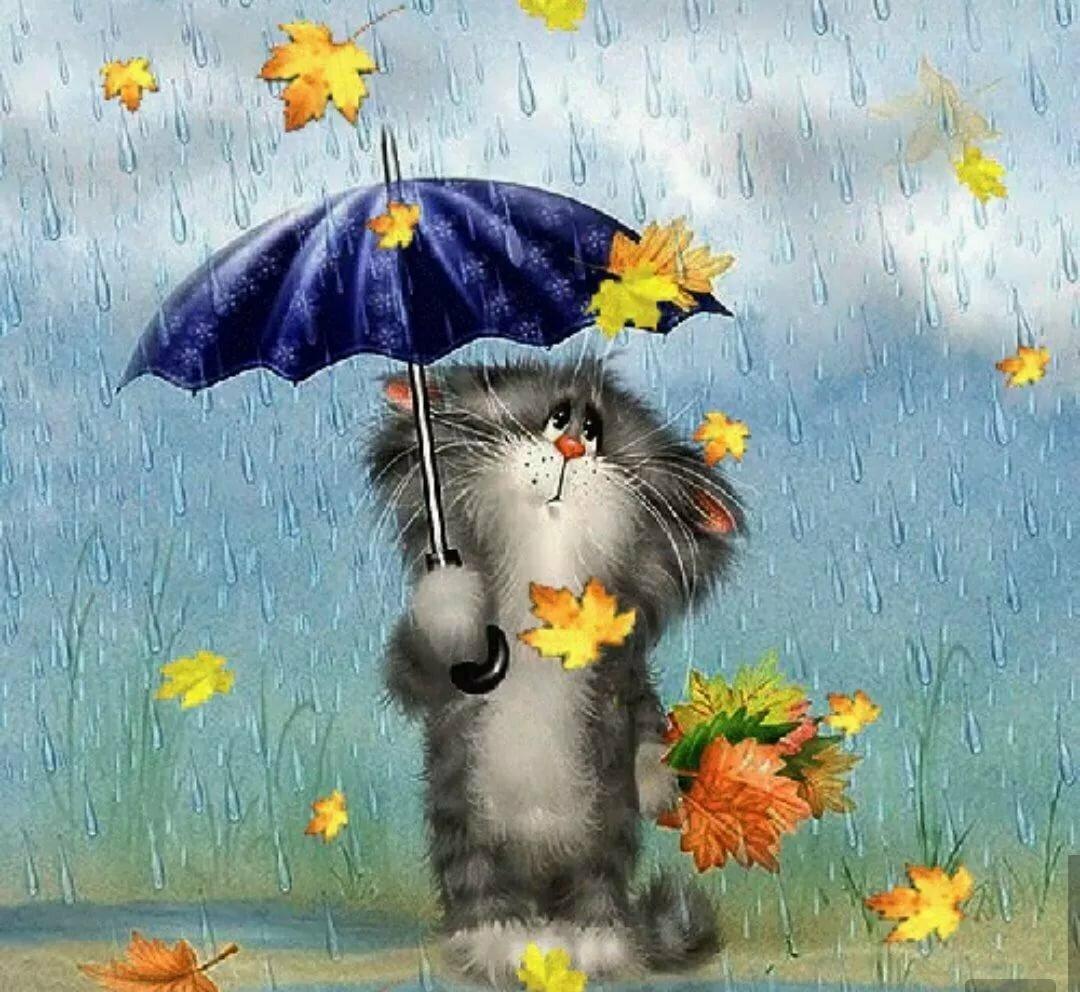 Открытка настроение осень, смешная картинка
