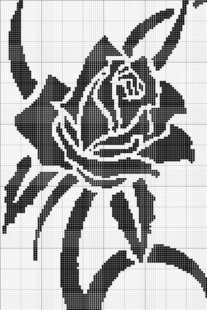 Черно-белые картинки для вышивки крест