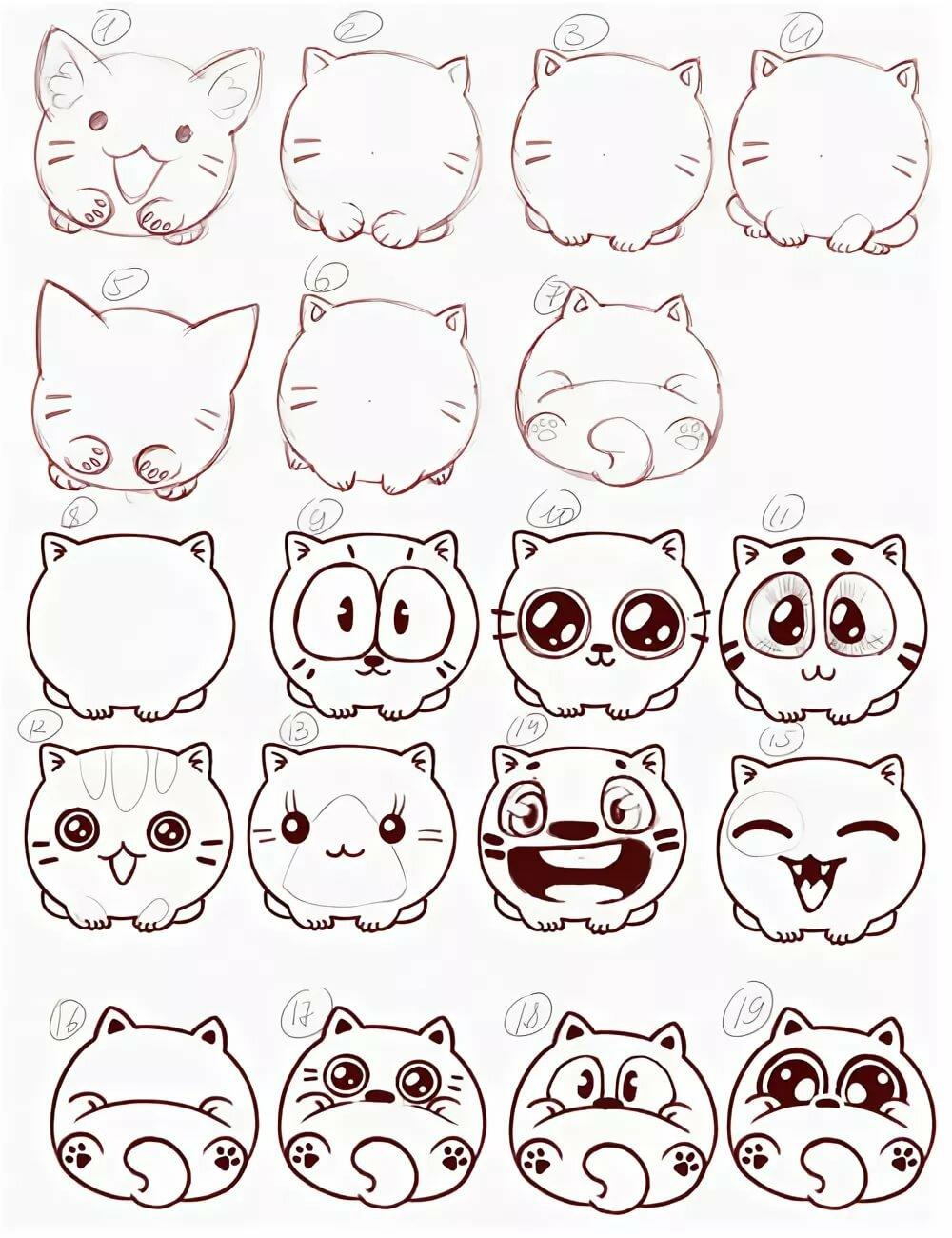Программисту, рисунки для срисовки котята милые и смешные