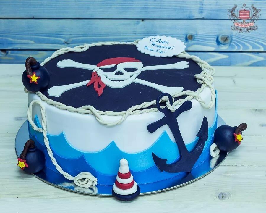 фото торта на пиратскую вечеринку указателю