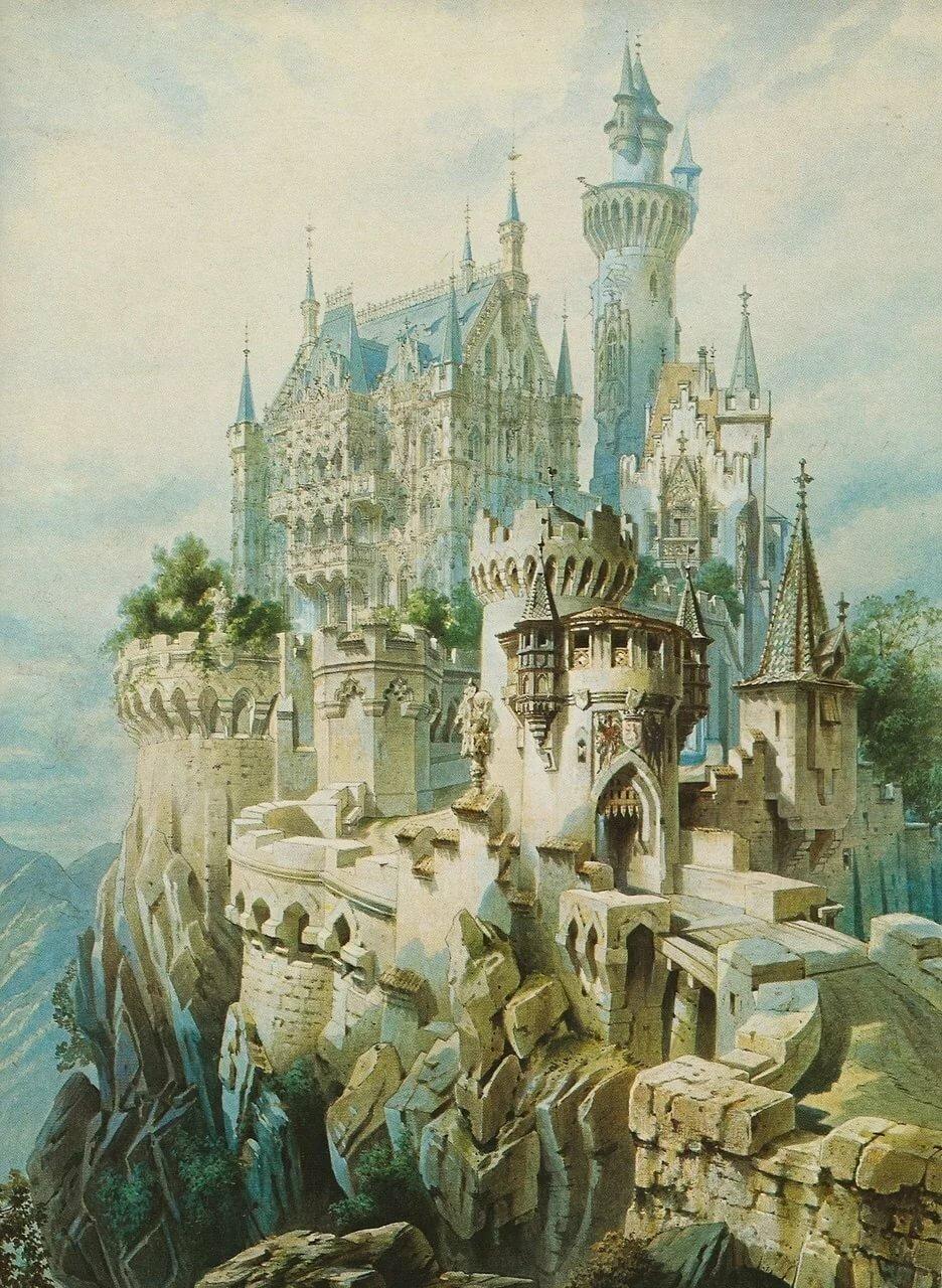 Картинки для декупажа замки