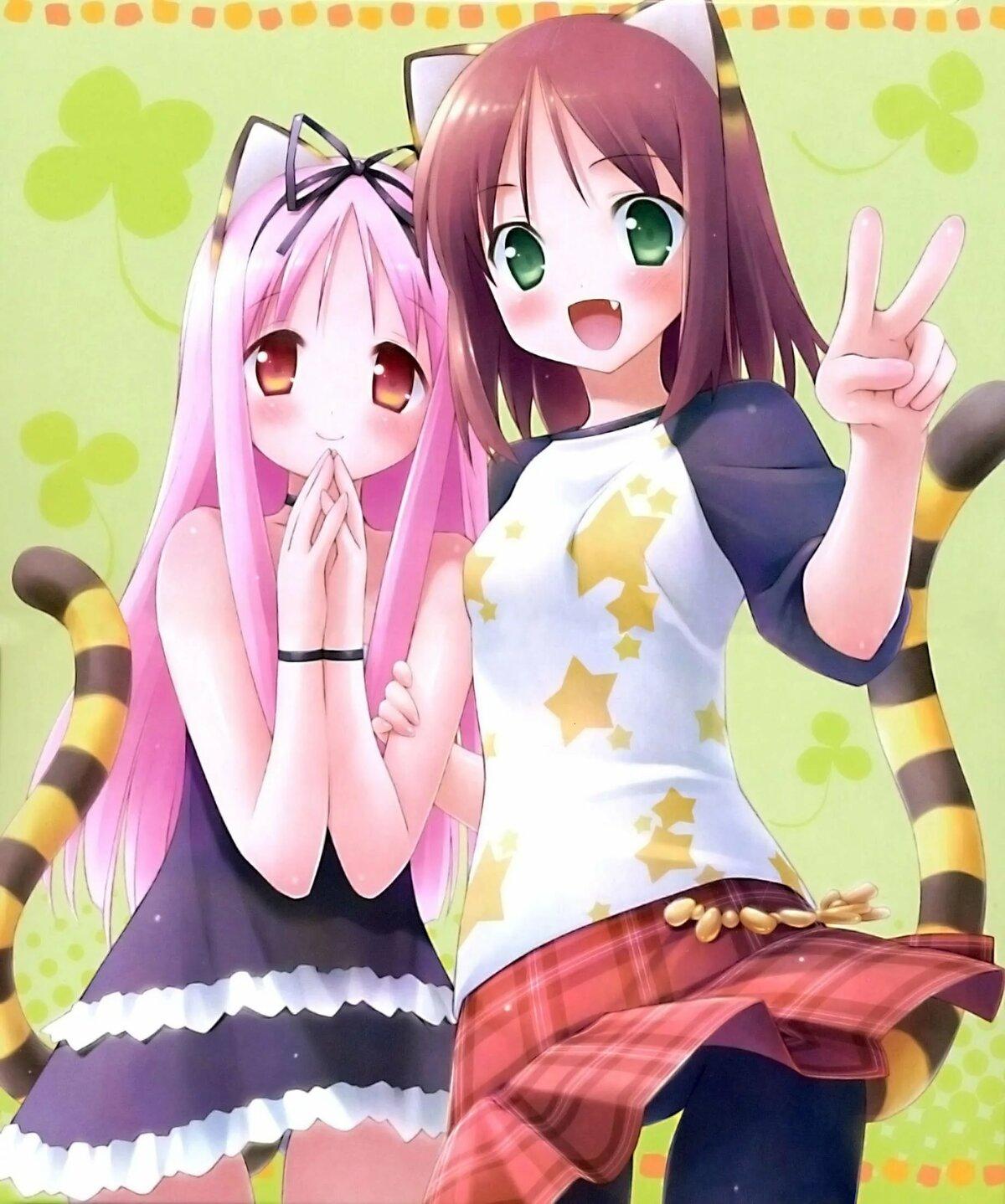 Картинки две подружки аниме, рисунки привидений