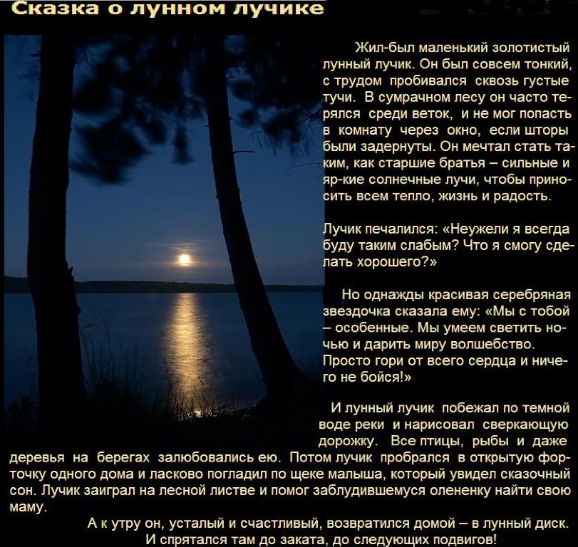 доме расположено сказка о лунном лучике миша фото призналась, что