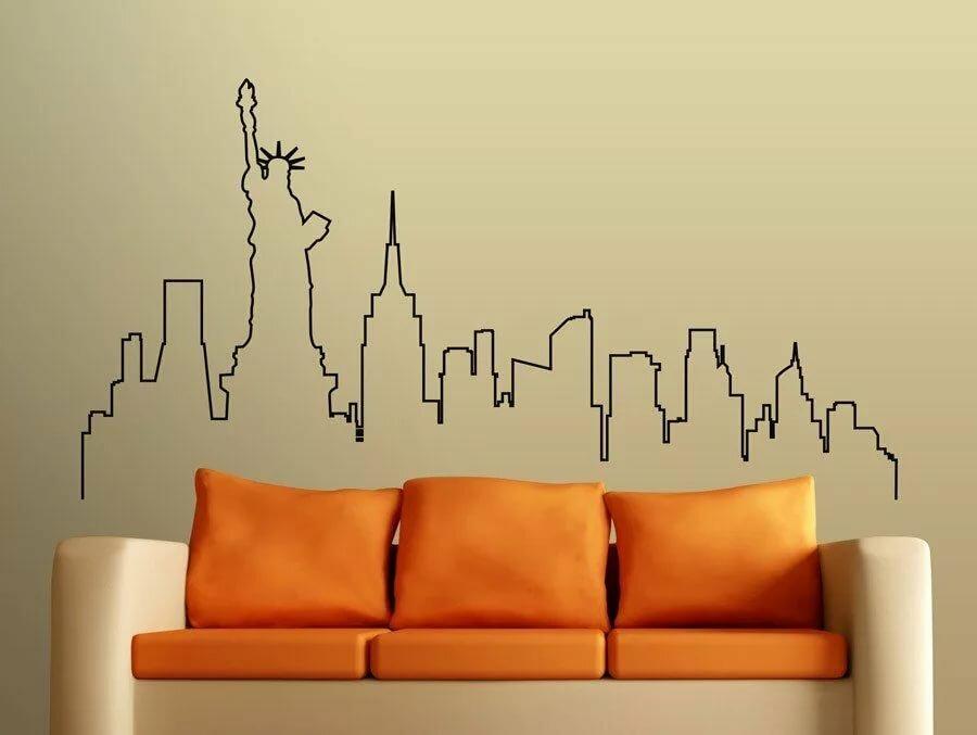 николаевна золотой силуэты рисунок на стене мечта