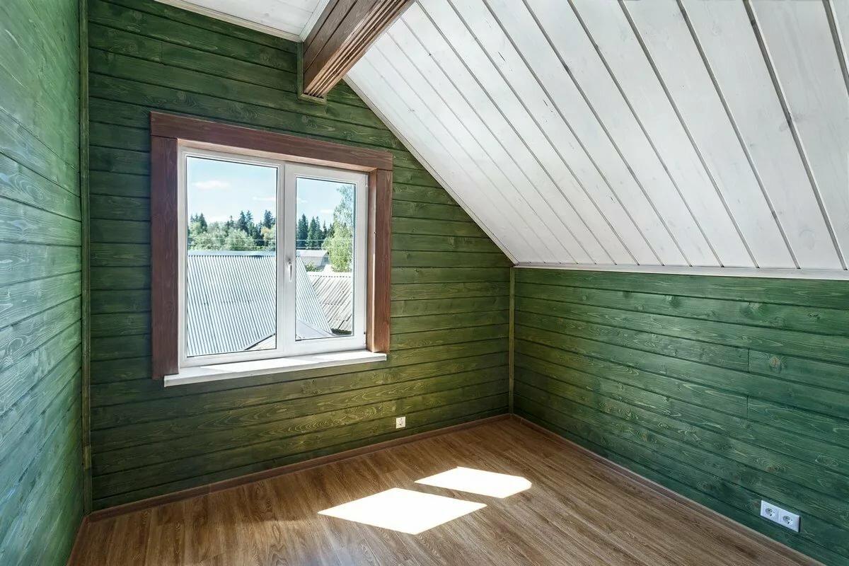 как правильно красить вагонку внутри дома