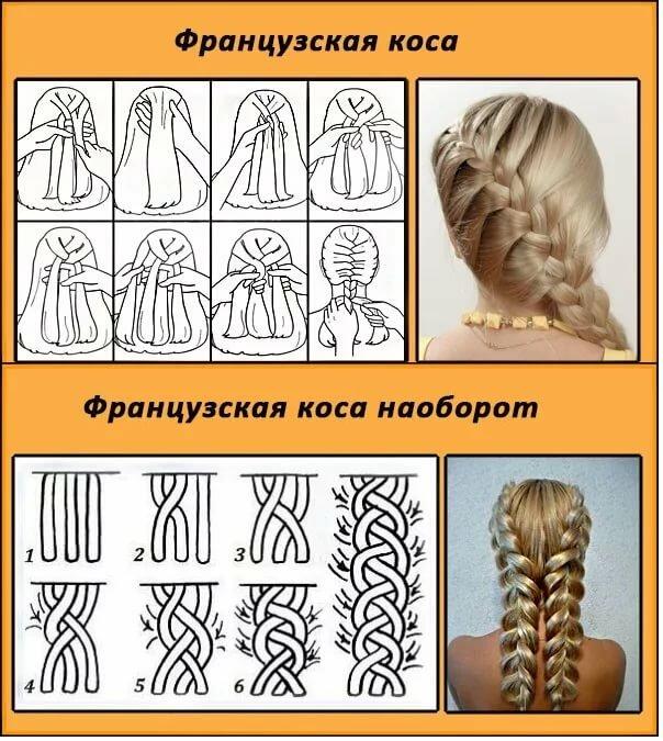 Картинки пошаговое плетение из волос