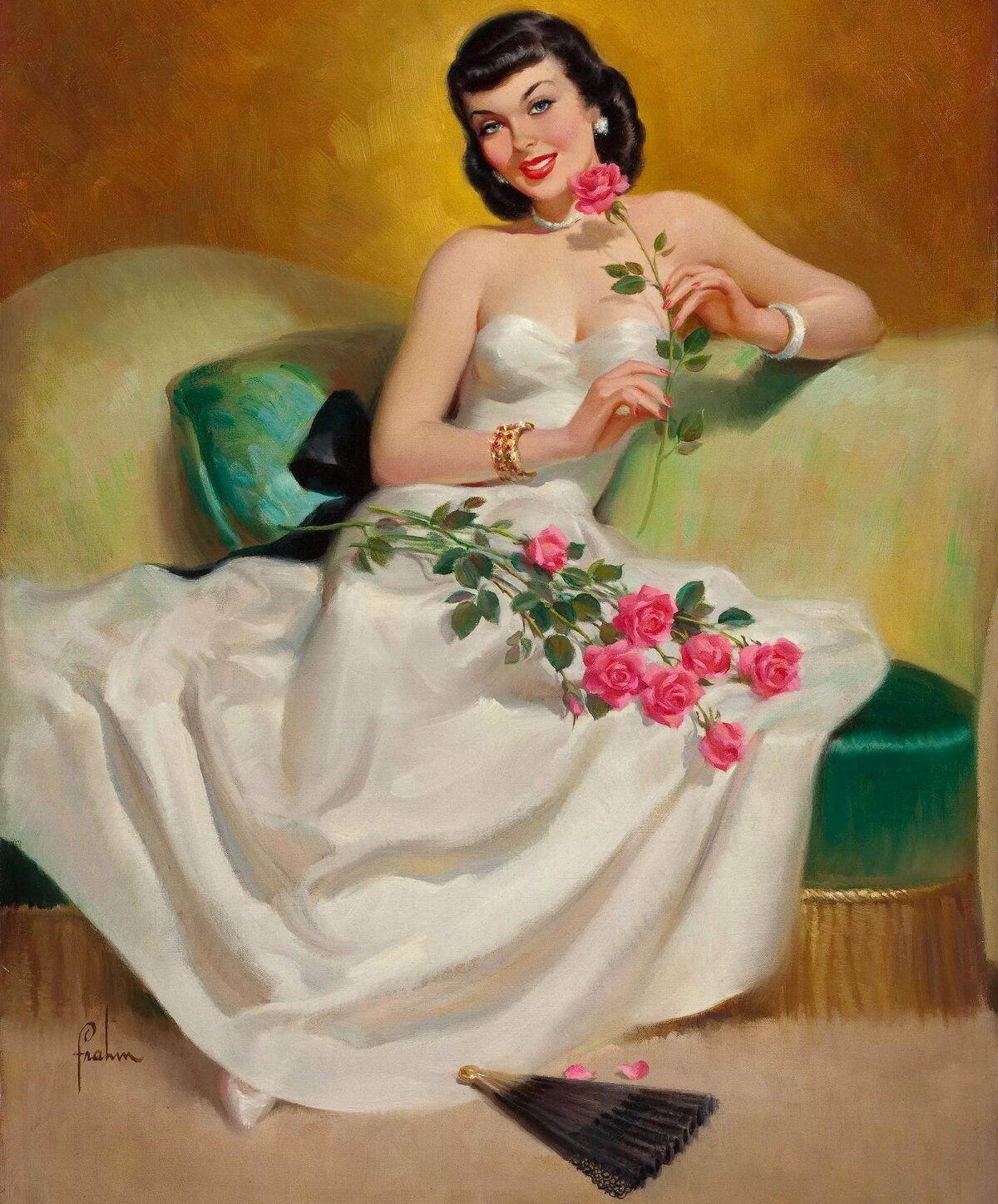 Рисованные открытки для женщин, картинки открытка желаю