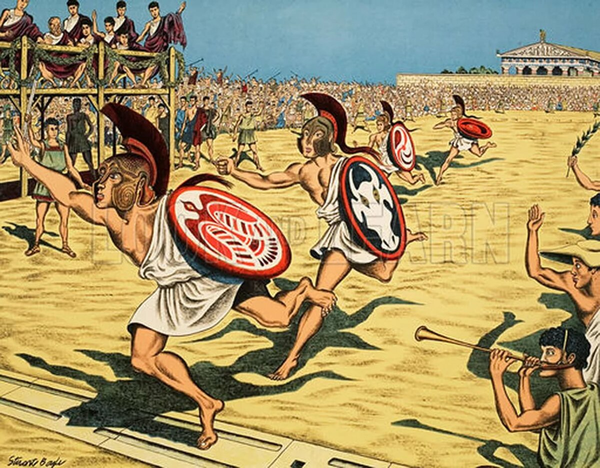 рисунки олимпийские игры в древности кухни курске