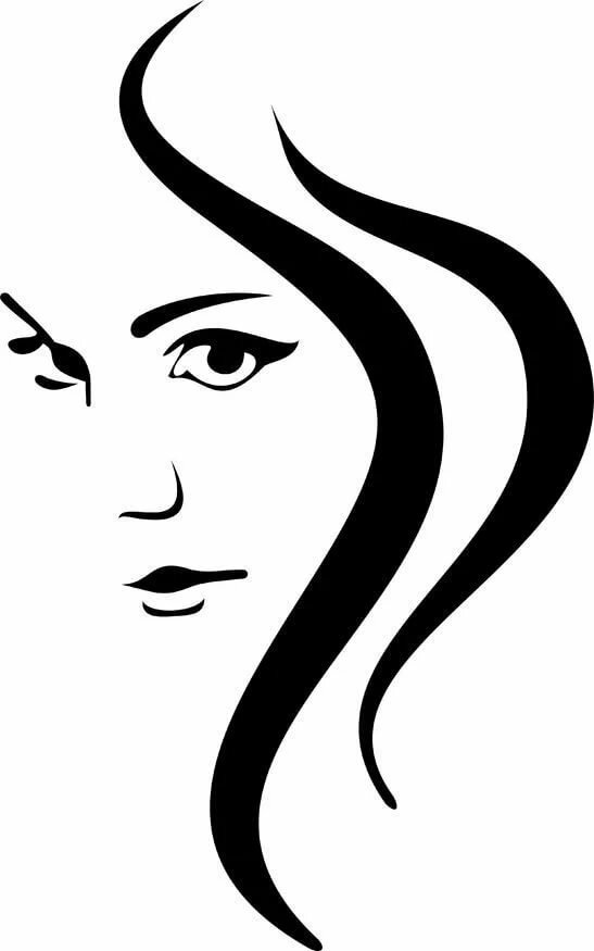 Картинка женщины символами